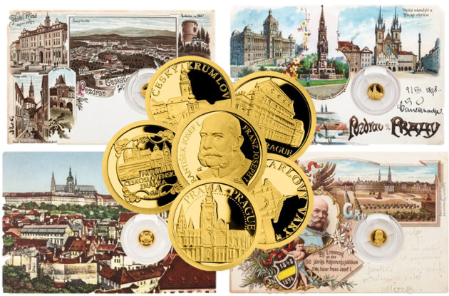 pohlednice a mince