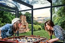Se zastřešením terasy CORSO je možné se na terase bavit po celý rok