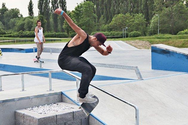 Slavnostní otevření skate hřiště ve Škoda sport parku dne 5.6.2019