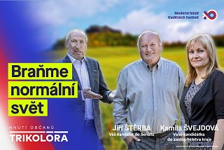 """Braňme normální svět"""" je volební heslo Hnutí Trikolóra v krajských volbách. - PR Deník"""