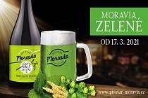 Svěží zelené pivo z Pivovaru Moravia