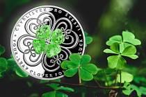 Mějte štěstí a vyhrajte stříbrný čtyřlístek s Českou mincovnou
