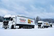 Kamiony plné ročních balení Vitamínu D.