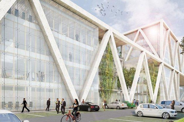 Budoucí podoba projektu Pilsen Digital Park na Borských terasách