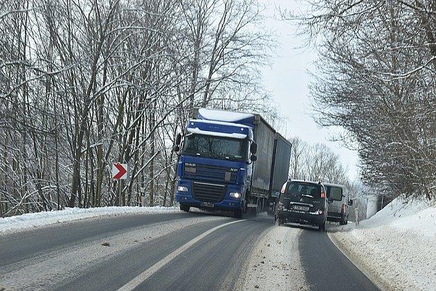 Silnice od Krnova přes Bruntál