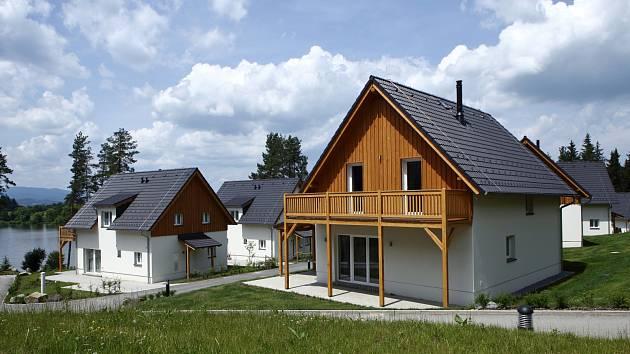 Apartmánový komplex Lakeside village, Frymburk.