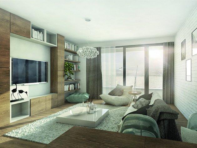 Díky francouzským oknům je v bytech projektu Panorama Plzeň dostatek světla.