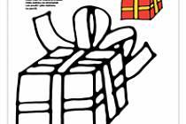 Vánoční omalovánky - Dárek