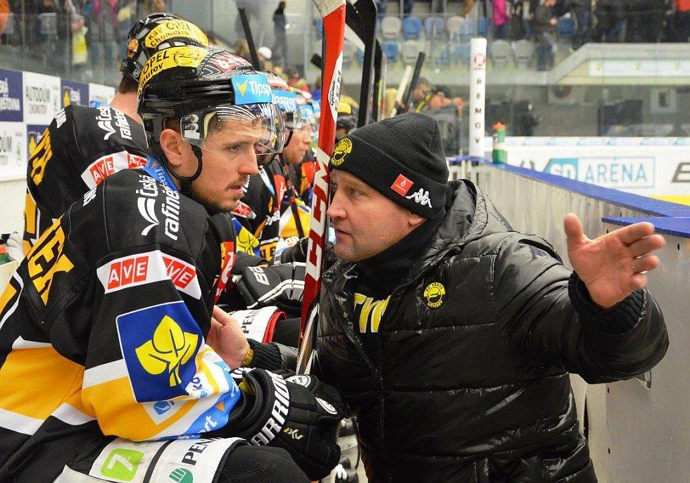 Z lednového extraligové derby Piráti Chomutov - Verva Litvínov.