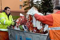 O Vánocích Chomutované vyprodukovali 156 tun odpadu.