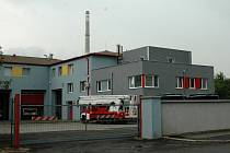 Nově opravená stanice chomutovských hasičů.