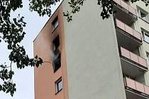 Požár bytu v Kadani.