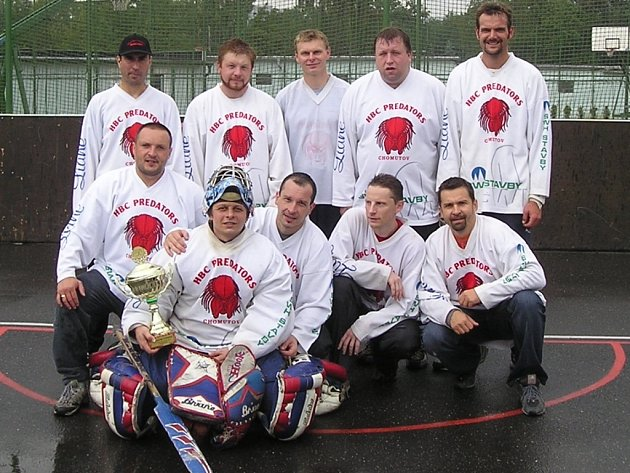Tým Predators, vítězové 1. ligy 2006/2007. Stojí zleva: Hurník, Petrovický, Jor, Kočí, Šáda. Sedí zleva: Mošna, Havlíček, Pospíšil, Modroczki, Vrána.