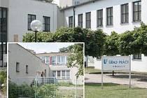 NOVÁ SOCIÁLKA. Sídlo úřadu práce (hlavní foto) se rozroste o vedlejší budovu (menší snímek), kam se z Kordů přestěhuje odbor státní sociální podpory.