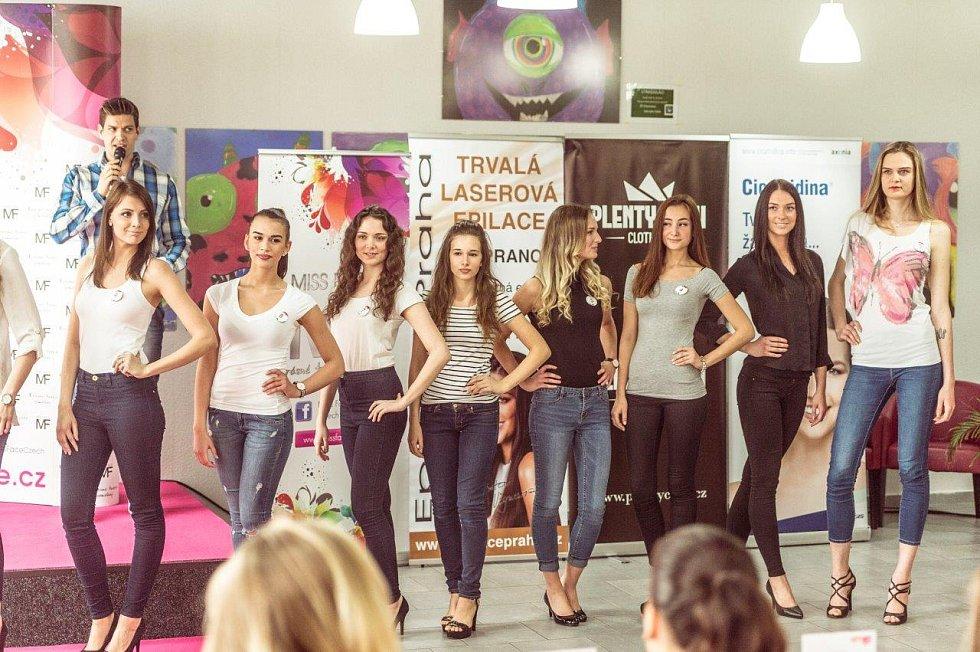 Na casting Miss Face, který se konal v pátek v obchodním domě Chomutovka dorazila dvacítka dívek.