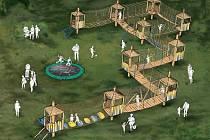 Plán na lanové hřiště v Kadani