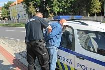 Civilní hlídku městské policie napadl výtržník.