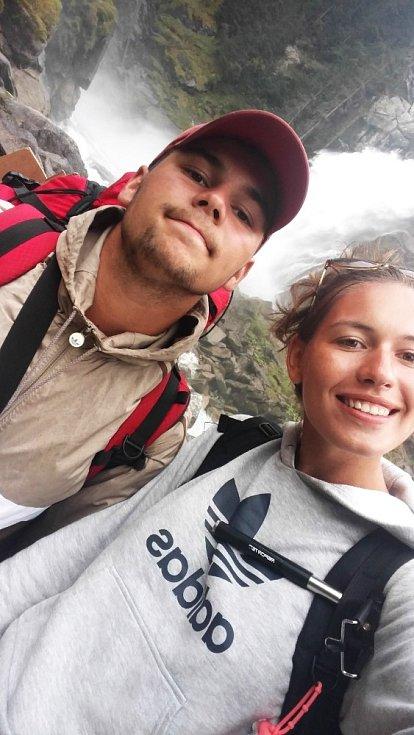 Petr a Tereza u Krimmelských vodopádů