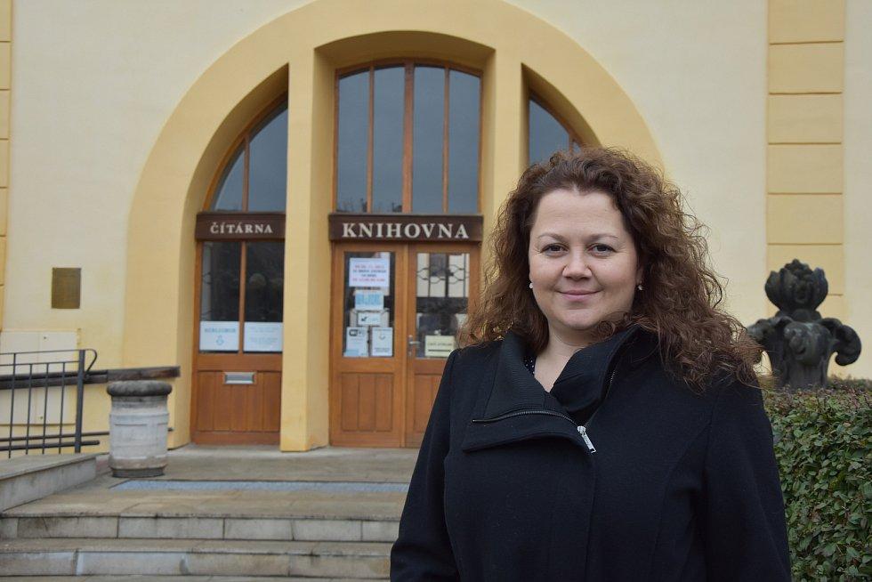 Odcházející ředitelka knihovny Andrea Löblová.