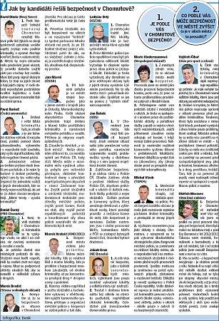 Jak by kandidáti ve volbách řešili větší bezpečnost pro obyvatele Chomutova?