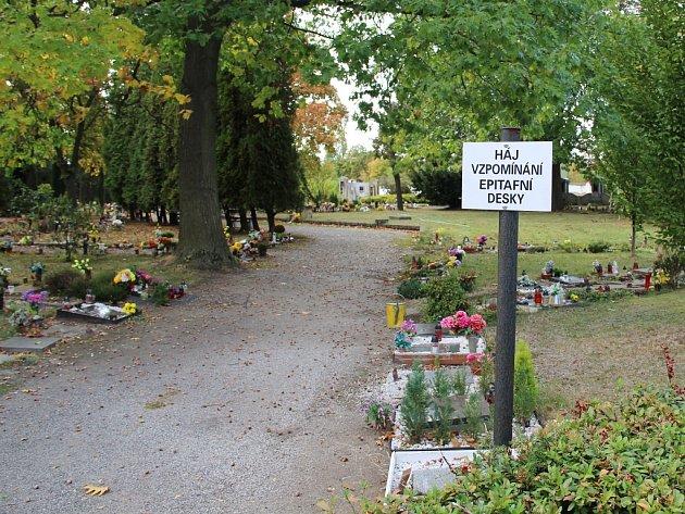 Háj vzpomínání na chomutovském hřbitově