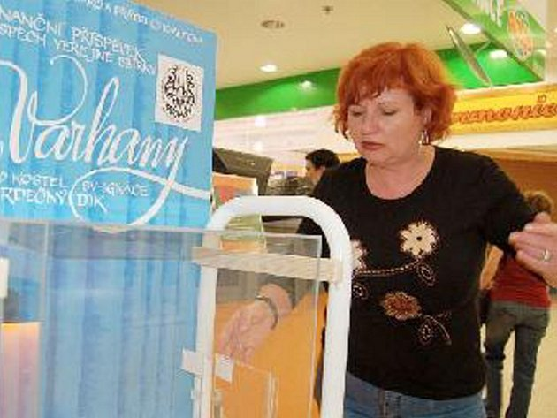 PRÁZDNÁ. Zbyl jen zlomek peněz. Jarmila Kubíková ukazuje místo, kudy zloděj peníze vybral.