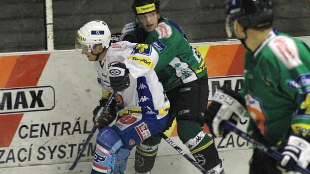 Snímky ze zápasu KLH Chomutov s HC Energie Karlovy Vary.