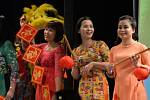 Stoly v divadle se doslova prohýbaly pod vietnamskými specialitami. Bohatý program barevností jen hýřil.