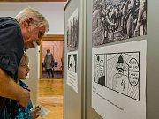 Vernisáž výstavy Velká válka a naše legie. Výstavu svým komiksovým příběhem zachytil třináctiletý Adam Bílek, který svým netradičním pohledem dává výstavě další rozměr i pro své dětské a dospívající vrstevníky.
