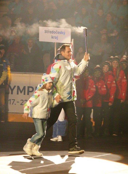 Zahajovací ceremoniál zimních Olympijských her dětí a mládeže 2016, který proběhl na chomutovském zimním stadionu.