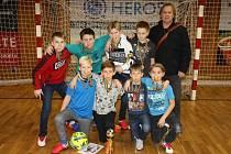 Vítěz poháru CHLMF tým mladších žáků ZŠ Krušnohorská Jirkov.