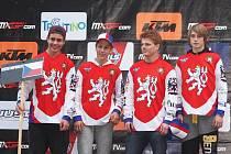Český tým v Arco di Trento, Jakub Terešák vlevo.