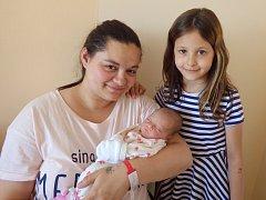 Natálie Dostálová se narodila 12. května 2018 v 0.14 hodin rodičům Margaretě Kabourkové a Jakubu Dostálovi z Jirkova. Měřila 48 cm a vážila 2,6 kg. Na snímku je také sestřenice Karolína Horváthová.
