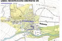 Mapa plánovaných oprav vodovodu v Radonicích