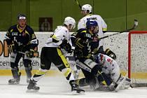 Poslední tři zápasy hráli hokejisté SK Kadaň se silnou trojkou