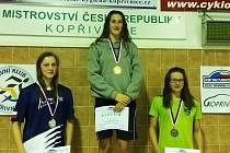 Kamila Slabihoudová na nejvyšším stupni.