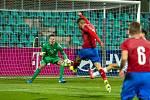 Česká reprezentace do 21 let (v červeném) přehrála jasně San Marino.