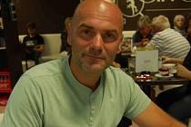 Iniciátorem stavby hřiště pro bikery se stal Petr Miltner na snímku.