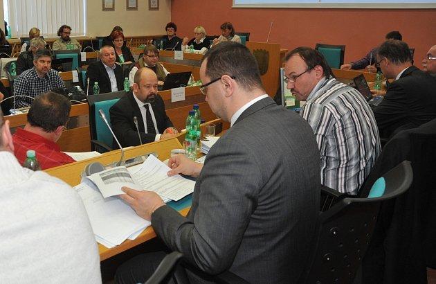 Zasedání zastupitelstva v Chomutově