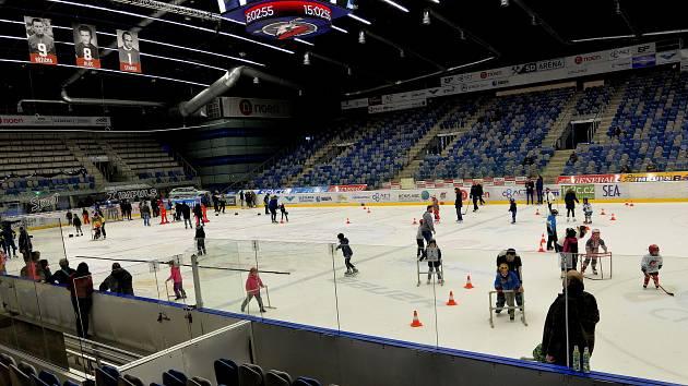 Zimní stadion v Chomutově.