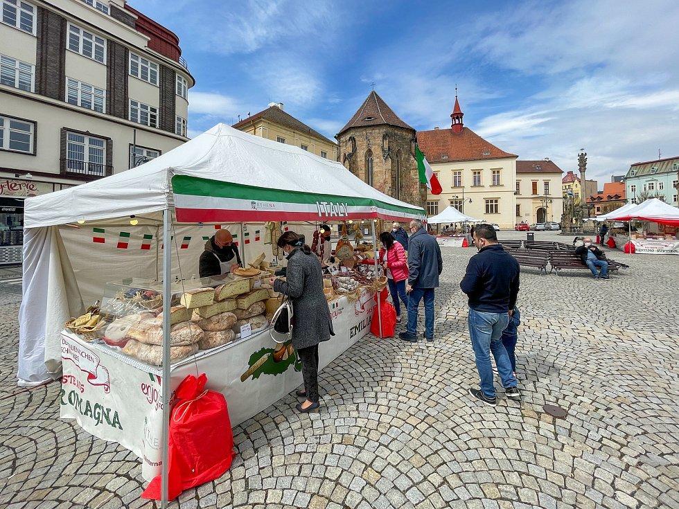 Italské trhy v Chomutově.