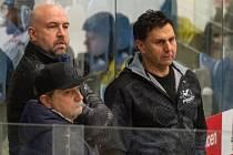 Chomutovský trenér Vladimír Růžička (vpravo).