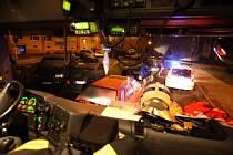 Z preventivního výjezdu hasičů a městské policie.