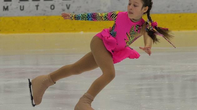 Na zimním stadionu v Chomutově se uskutečnila soutěž v krasobruslení Chomutovská brusle.