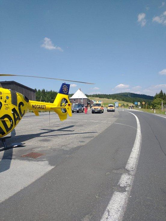 V Krušných horách se vážně zranila cyklistka z Německa
