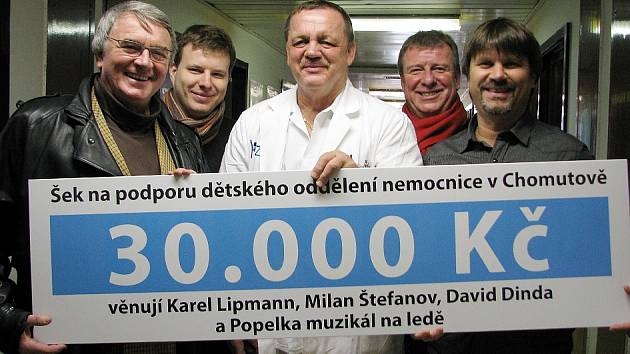 Na snímku zleva Vlastimil Harapes, David Dinda, Jiří Kroh, Karel Lipmann a Milan Štefanov.