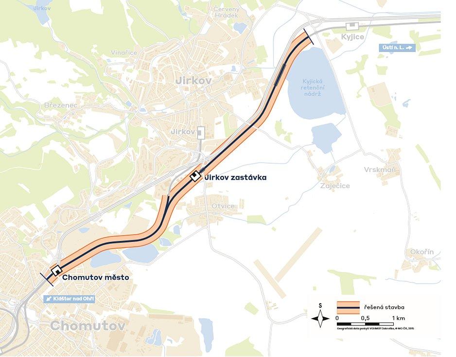 Úsek Podkrušnohorské magistrály, který čeká obnova, dosahuje téměř 7 kilometrů.