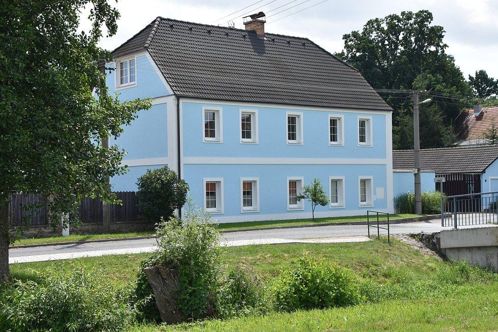 Jeden z domů v Hradci, který je místní částí Rokle.