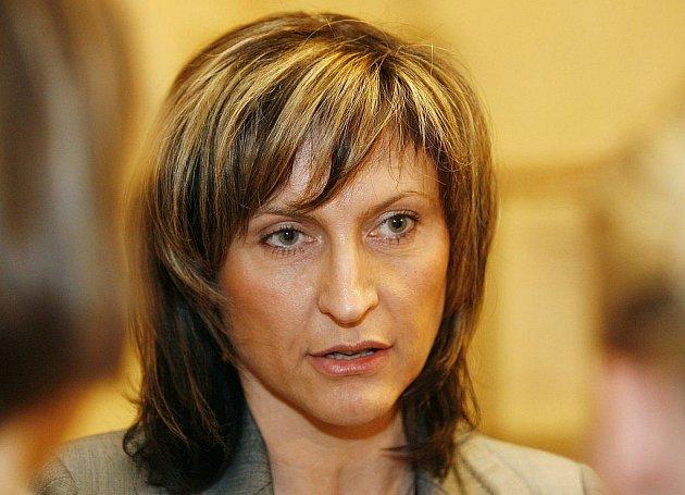 Primátorka Chomutova Ivana Řápková.