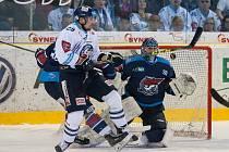 První zápas semifinále play off extraligy ledního hokeje mezi týmy Bílí Tygři Liberec a Piráti Chomutov
